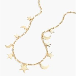 J Crew Stars and Moons Necklace